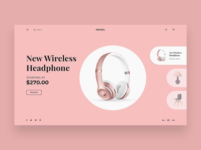 Minimal Ecommerce Website Header