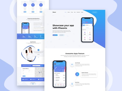 Pheonix - App landing Page