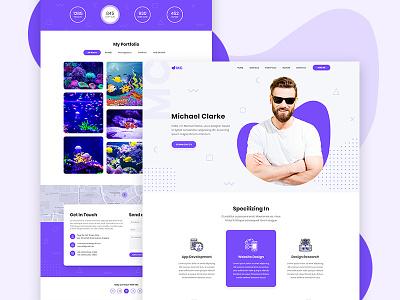 Portfolio Web Visual Exploration design cv concept creative web design visual vcard trend personal portfolio portfolio personal resume