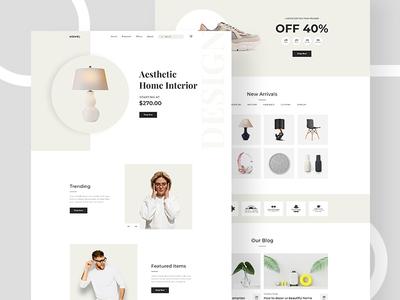 Minimal E-Commerce Landing Page