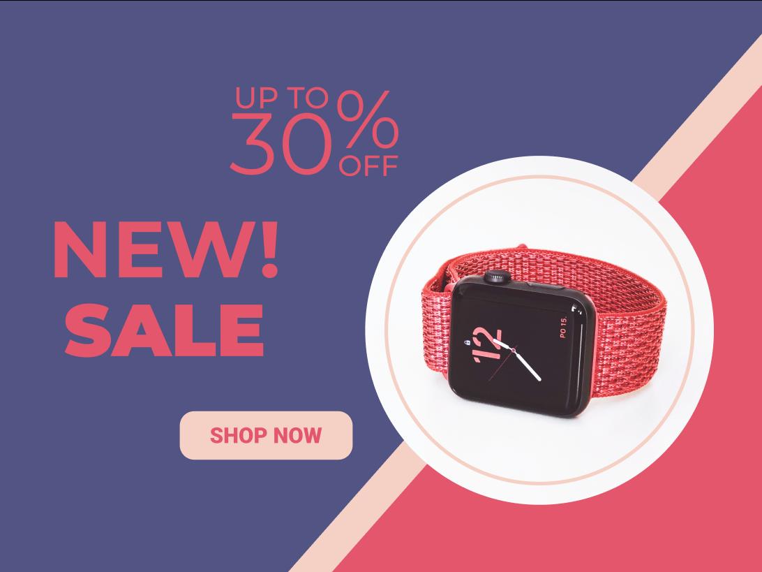 Daily UI 12 — E-Commerce Shop new shop now blues red sale apple watch blue vector ui minimalism gaplevski flat design dailyui