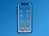 Daily UI #24 –Boarding Pass
