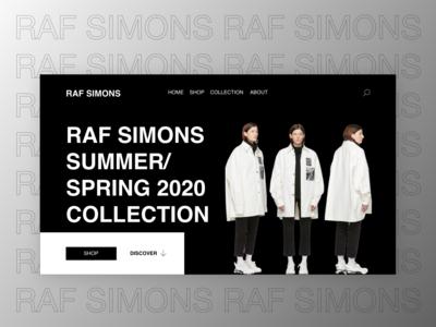 RAF SIMONS - Concept