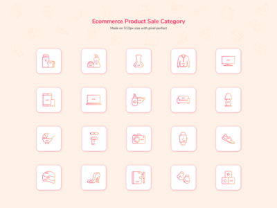 Eccomerce Products Sale Category mobile design app design design app icon design iconography icons modern clean simple icon eccomerce