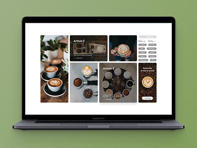 Coffee Blog Page webdesign ux ui design web design