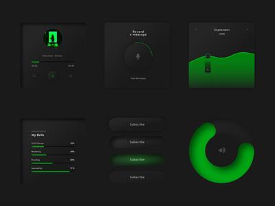 Neomorphism Dark theme web app icon ui design interface ui design neomorphism webdesign