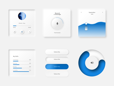 Neomorphism Light Theme neomorphism app web web design vector icon design ux ui webdesign