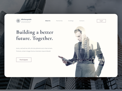 Landing page for construction company website design website concept website ux ui design landing page ui design web web design landingpage landingpagedesign