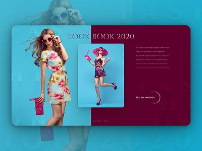Lookbook 2020 - fashion website landing page design landing page website design website fashion ui design web design web webdesign