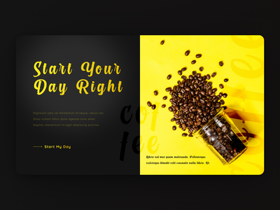 Landing Page for Coffee Blends coffee beans coffee webdesign web design landing page concept design ux ui landing design ui design landing page design landing page web