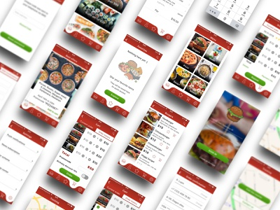 BurgerMania on demand delivery app delivery fast food ui ux design ui  ux uiux app design app ui ux design