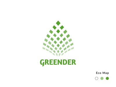 Greender Logo eco friendly ecology eco map logotype design logotype branding design logo design logo branding design