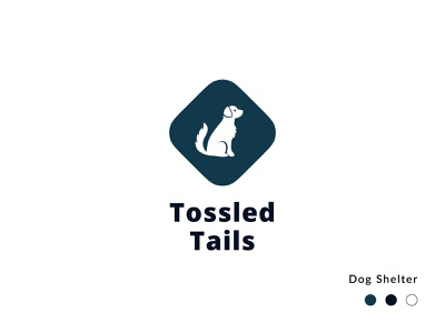Tossled Tails Logo animals dogs dog shelter branding design logotype logotype design logo design logo branding design