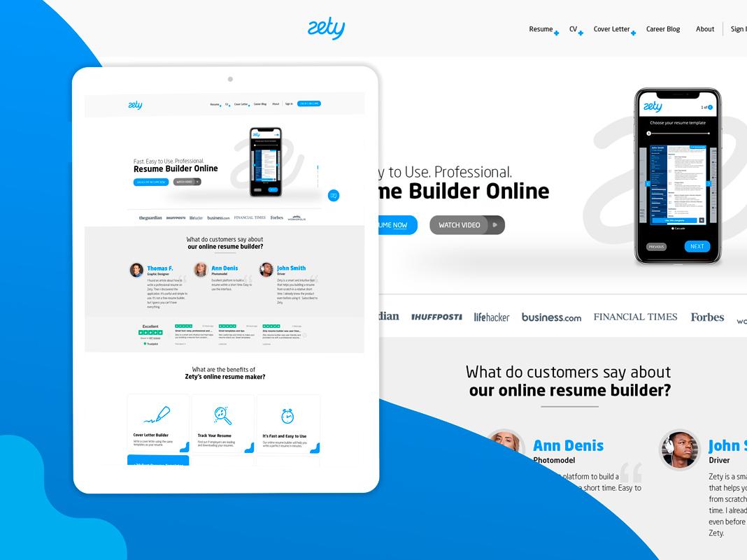 Zety Logo Design Web Design By Jakub Rydwanski On Dribbble