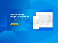 Hero section landing page Webdesign