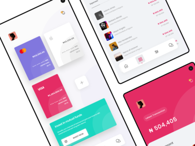 Wallet app wallet app mobile design ui