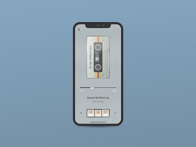Cassette Player App figma design realistic realism ui mobile application app polish metal retro