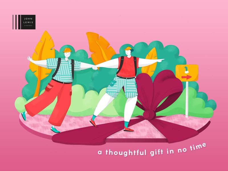 John Lewis & Partners: Thoughtful Gifting campaign design campaign advertising story telling new blood dandad graphic artist design photoshop graphic  design illustrator illustration