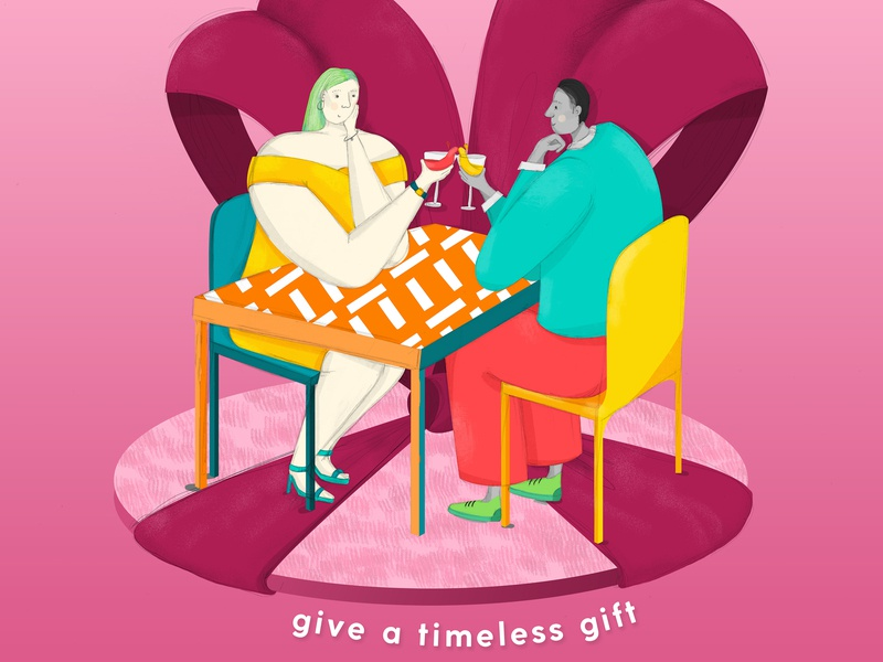 John Lewis & Partners: Thoughtful Gifting drawing gifting advertising new blood dandad story telling graphic  design design photoshop illustrator illustration