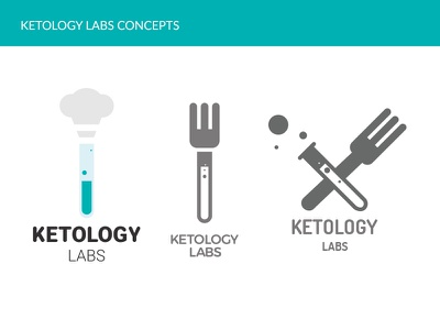 Ketology Labs Logo Concepts (Semi Finals) experiments labs food keto food blog