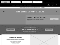 Bank Website Wireframe