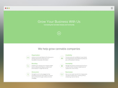 Cannabis Reports Business Site app weed cannabis website web landing pricing redesign ui