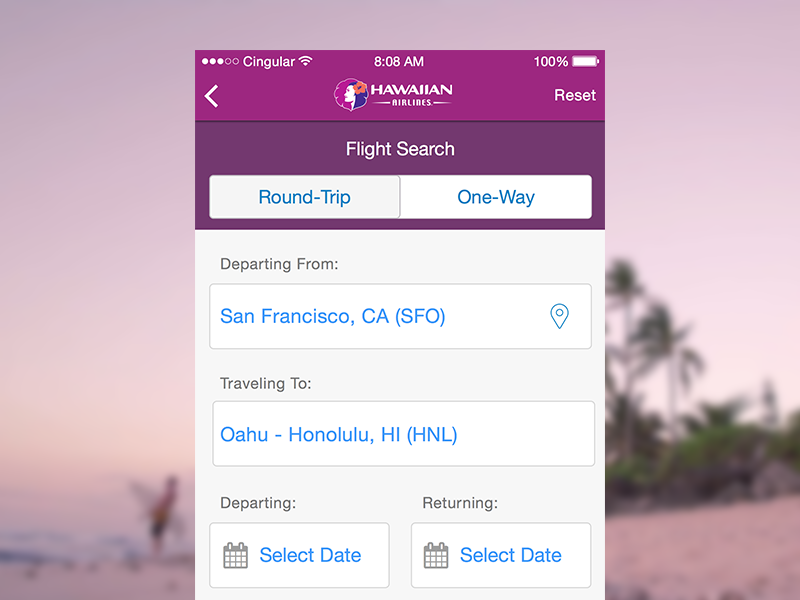 Hawaiian Airlines Redesign travel ux ui flight ios landing hawaiian redesign app