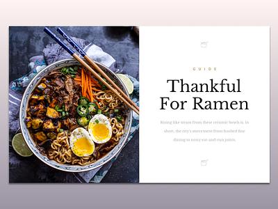 Ramen Guide japan photography modern flat minimal card guide ramen magazine graphic design type typography