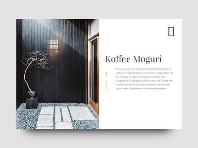 Koffee Moguri - About minimal shopping product showcase ux ui japan site landing coffee design