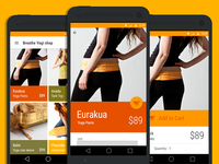 Breathe Clothing shop using google material design