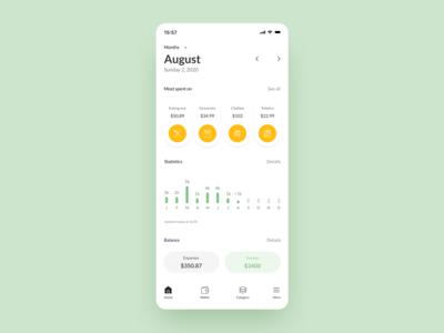 Money track tracking app currencies wallets spend track money designs plan interaction design application mobile app design app flat minimal design ux ui