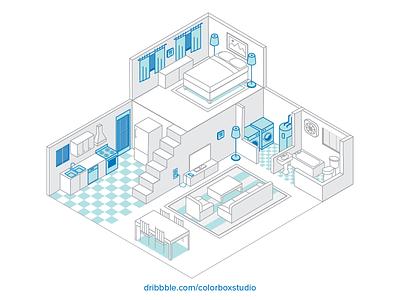 Home Isometric Illustration isometric illustration energy savings home line isometric illustration