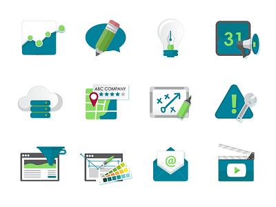 Branding Icons colorbox studio design illustration vector icon iconography branding