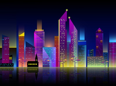City scape outline. Vector illustration for your graphic design.