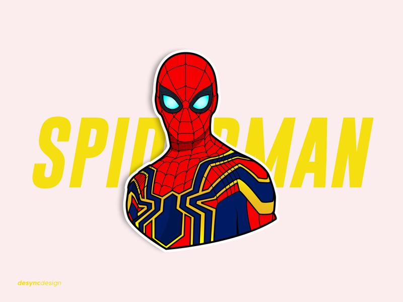 Spider-Man Vector Design sticker spiderman spider endgame vector superhero movie marvelcomics marvel illustration hero flatdesign design comics avengers