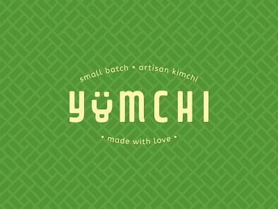 Yumchi Kimchi artisan pattern wordmark type smal batch yum cabbage green branding love kimchi