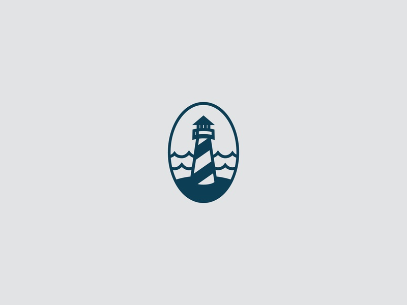 Lighthouse Icons dark light water icon branding logo lighthouse