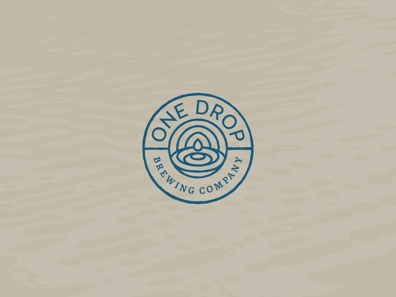 One Drop Brewing Co. blue brewery logo brewery branding brewery beer logo branding