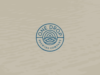 One Drop Brewing Co. blue brewery logo brewery branding brewery beer logo branding