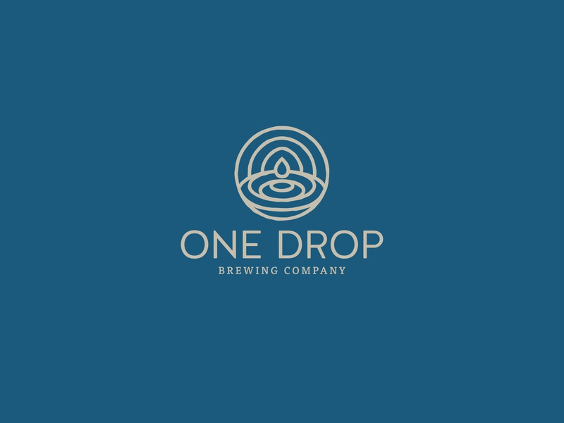 One Drop Brewing Co. beer branding organic ripple drop water blue brewery branding brewery beer