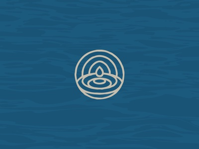 One Drop Brewing Co. Icon pattern brewery logo design brewery branding icon logo beer logo organic ripple water branding beer branding brewing beer texture