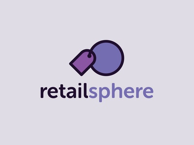 Retailsphere Name & Branding naming tag sphere brand identity purple retail icon logo branding