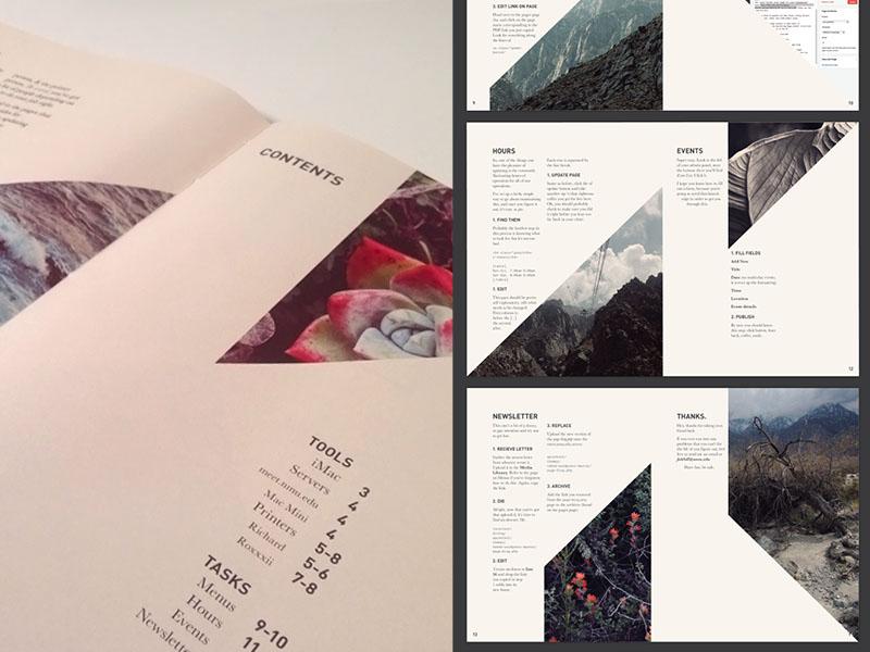 Webmaster Manual manual layout print book