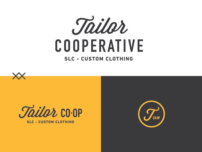 Tailor Cooperative  icon wordmark branding