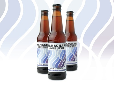 Blue Moscow Label
