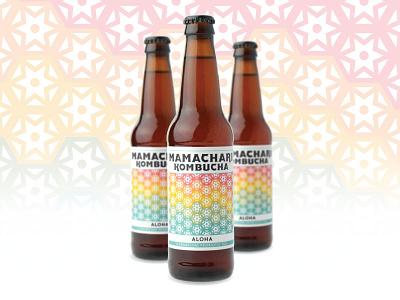 Aloha Label kombucha labels packaging pattern