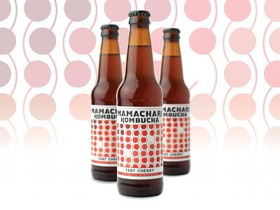 Tart Cherry Label kombucha labels packaging pattern