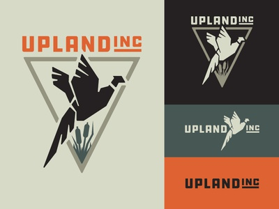Upland Inc. Logo upland bird icon logo branding hunting pheasants