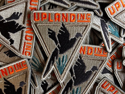 Upland Inc Patch branding logo pheasant hunting bird patch