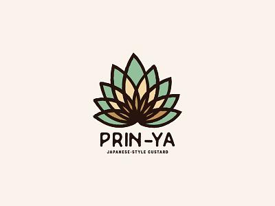 Prin-Ya Japanese Custard branding logo japanese flower custard